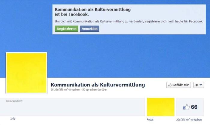 Fb Page Blau und Gelb
