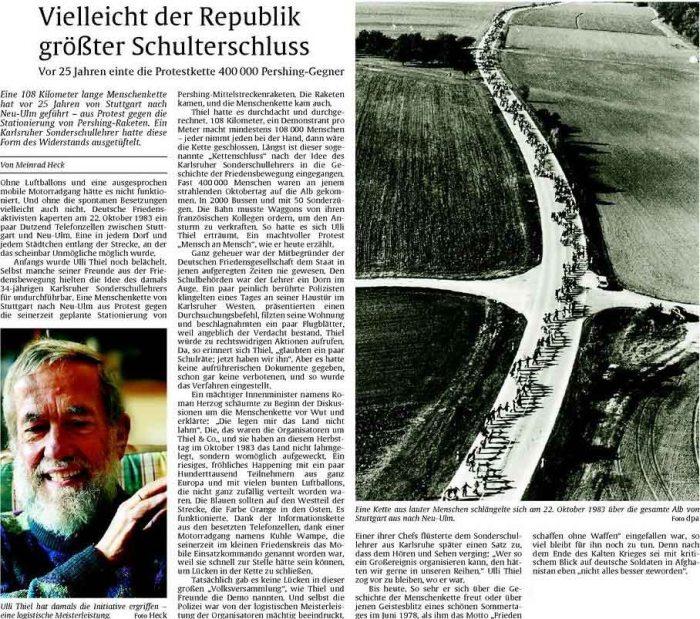 Menschenkette Ulli Thiel  DFG VK
