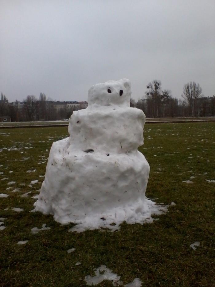 Schneemann im Gleisdreieckpark