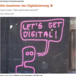 Jaron Lanier Wem gehört die Zukunft  deutschlandradiokultur 2014-02-18